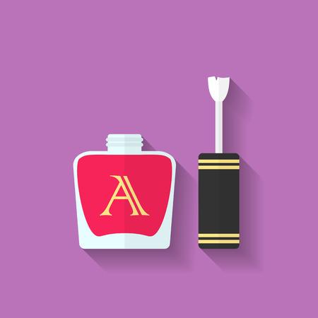 varnish: Nail polish, nail varnish icon. Flat style