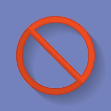 prohibition: Interdiction signe icône plat
