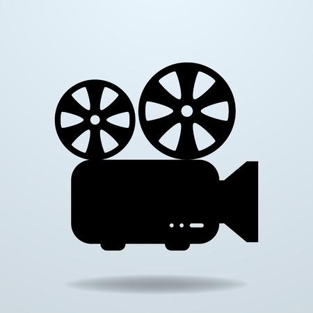 film projector: Icon of Film Projector. Cinema Projector.