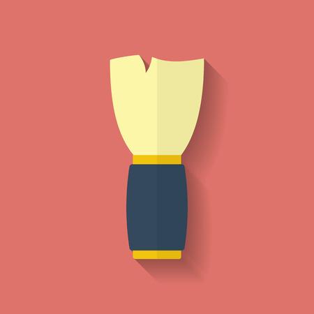 shaving brush: Shaving Brush icon. Flat style Illustration