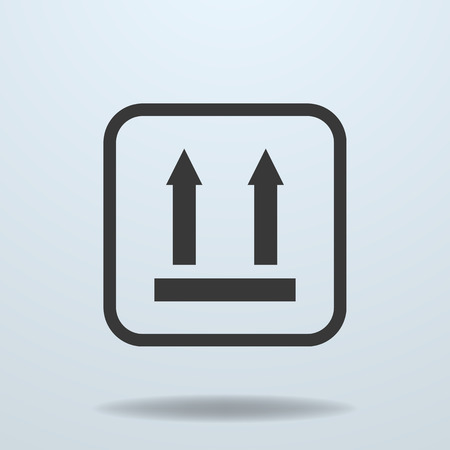 sign symbol: Icon of Side Up sign, symbol