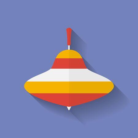 whirligig: Icon of whirligig. Flat style