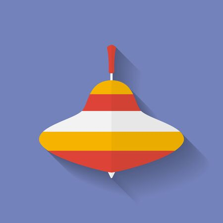 molinete: Icono de la perinola. Estilo Flat