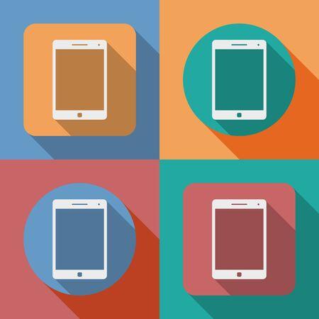 computador tablet: Icon of Tablet PC, tablet computer Ilustração