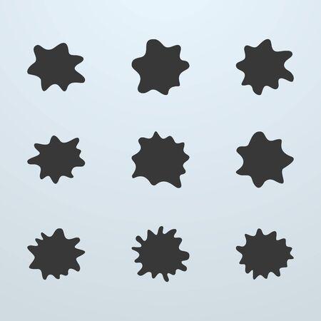 blobs: Set of blots or blobs Illustration