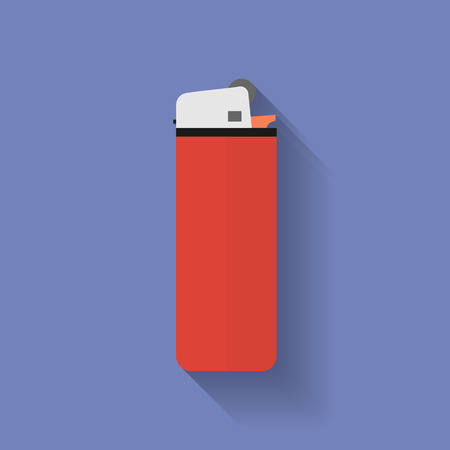 lighter: Icon of lighter. Flat style