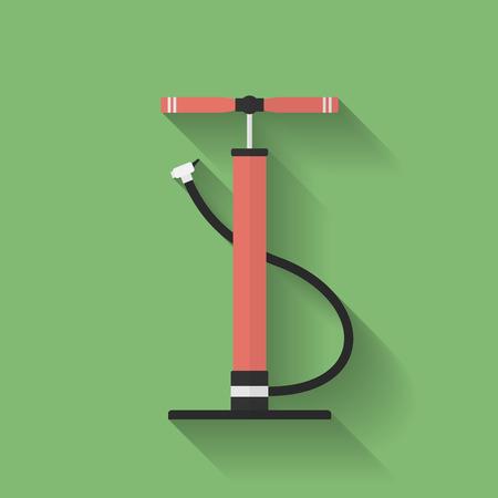 air pump: Car air pump icon. Flat style