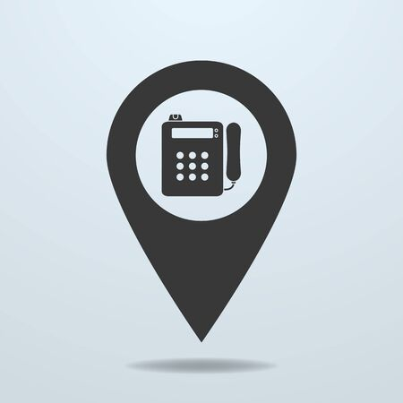 payphone: Map pointer with a payphone symbol