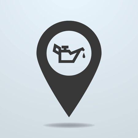 oiler: Map pointer with a oiler symbol