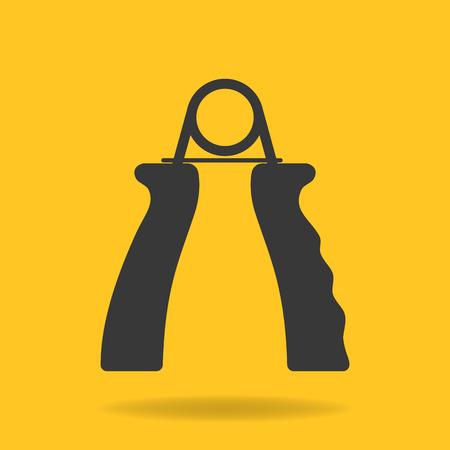 Icon of hand grip exerciser or trainer Illustration