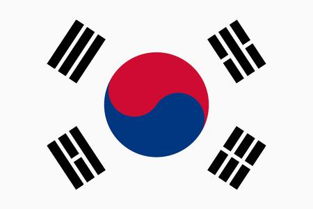 Flagge der Republik Korea Standard-Bild - 43814792