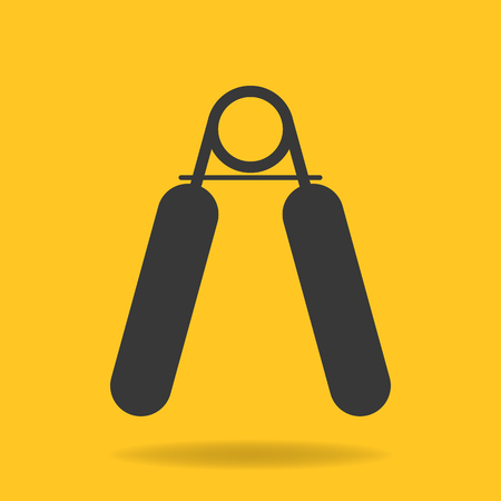 hand grip: Icon of hand grip exerciser or trainer Illustration