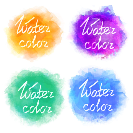 color backgrounds: Abstract colorful water color backgrounds Illustration