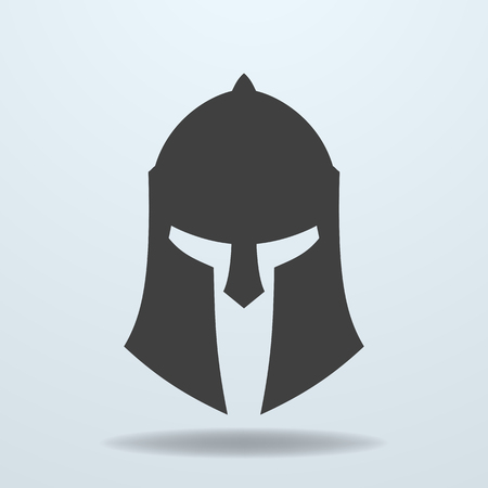 sparta: Icon of ancient Greek, Roman, Spartan helmet.