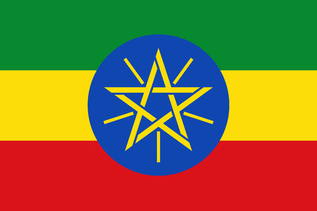 Flag of Ethiopia Stock Illustratie