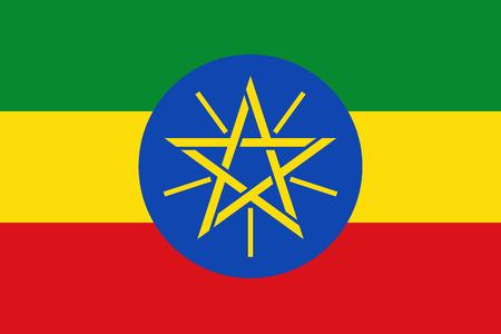 Flag of Ethiopia Stock Illustratie