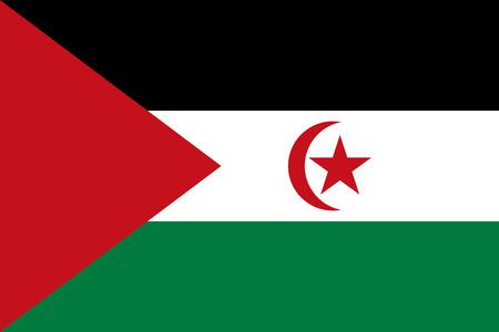 sahrawi arab democratic republic: Flag of Sahrawi Arab Democratic Republic Illustration