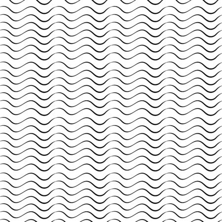Abstract seamless pattern from waves Illustration