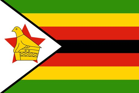 patriotic: Flag of Zimbabwe