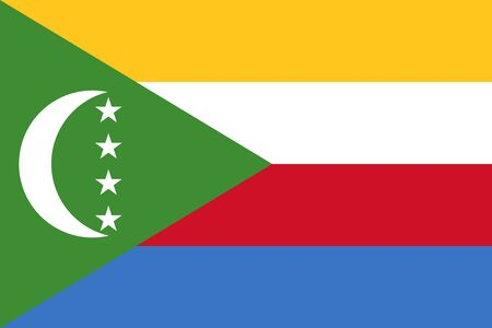 comoros: Flag of Comoros Vectores