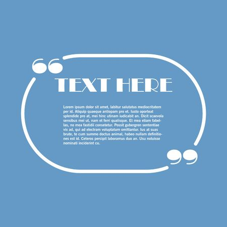 Icon of Quotation. Speech Bubble template with quote sign, symbol