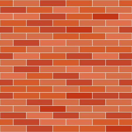 bakstenen muur: Brick wall background. Vector seamless pattern.