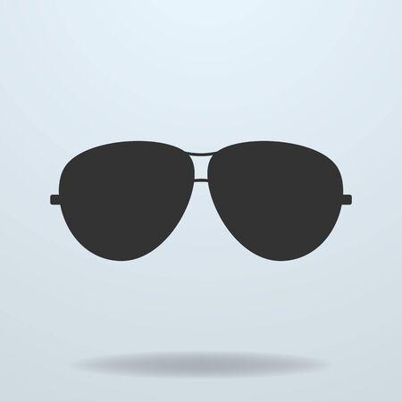 gafas: Polic�a o gafas de sol, gafas de polic�a. Vector icono negro