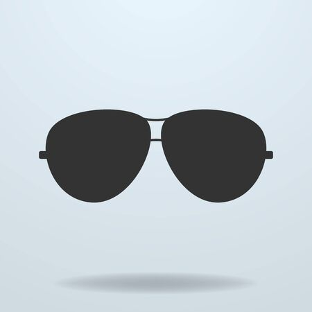police: Police or cop sunglasses, glasses. Vector black icon