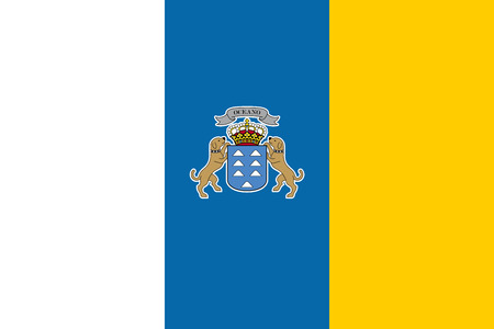 canary islands: Flag of Canary Islands Illustration