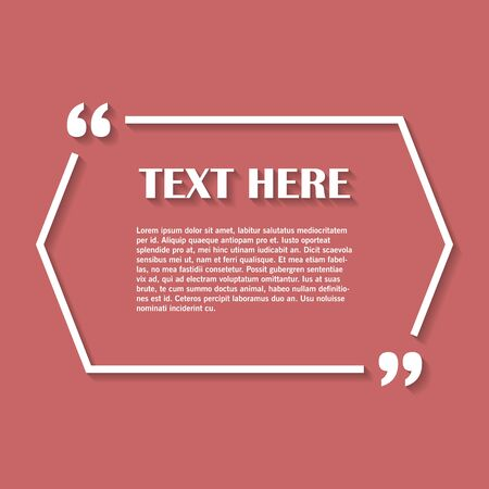 quotation: Icon of Quotation. Speech Bubble template with quote sign, symbol