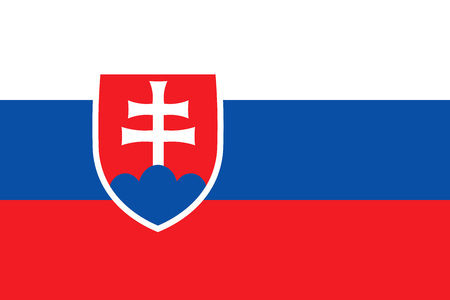 national flag: Flag of Slovakia. Vector icon