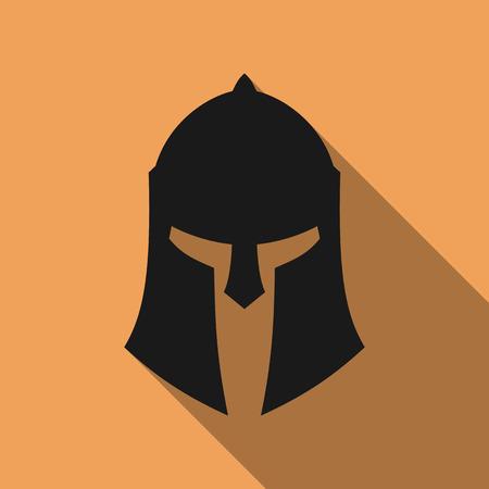 Symbol der antiken griechischen, römischen, Spartaner Helm. Standard-Bild - 47612483