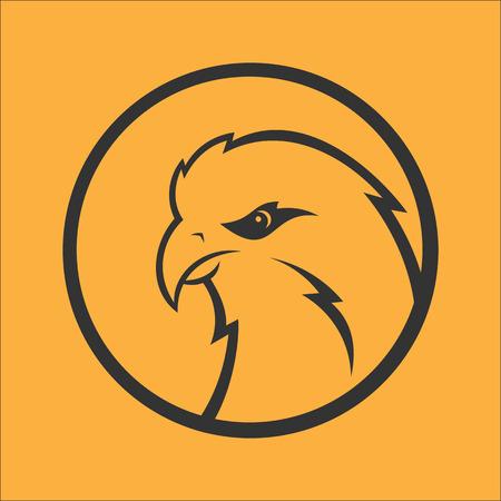 predator: Eagle, hawk, falcon logo. Sport mascot. Predator bird logotype template Illustration