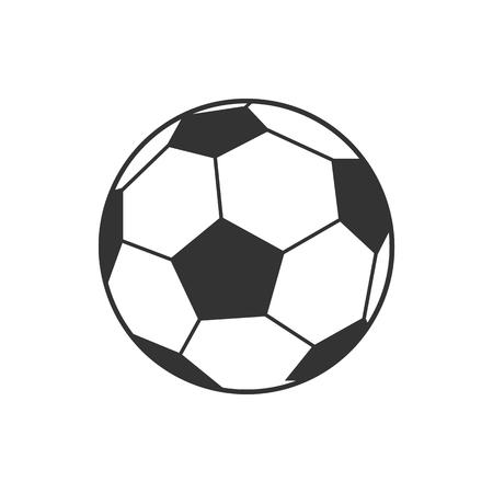 soccer goal: Vector icon of soccer, football ball