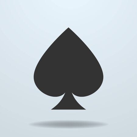 spades: Vector icon of Spades card suit Illustration