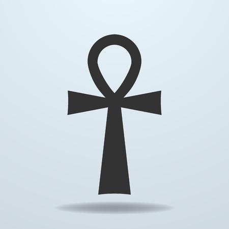 Egyptian cross, ankh symbol. Vector icon  イラスト・ベクター素材