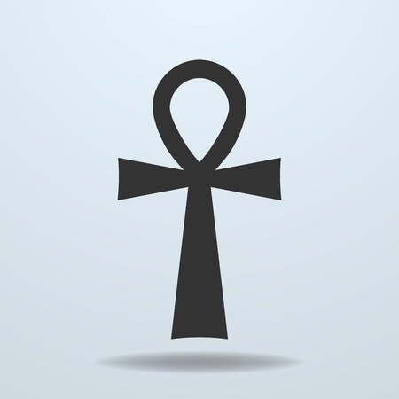 Egyptian cross, ankh symbol. Vector icon Stock Illustratie