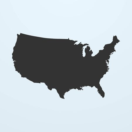 usa: Silhouette of USA Map. United states of America map