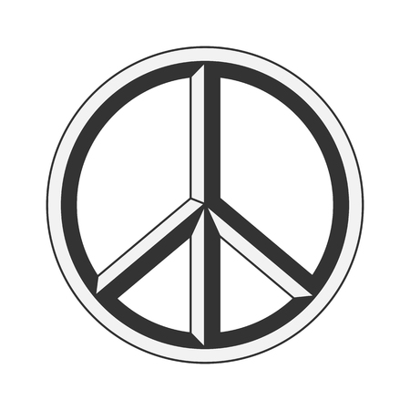 pacifist: Peace sign. Hippie symbol of peace. Vector illustration eps 10