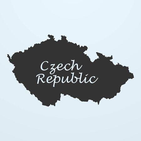 the czech republic: Map of Czech Republic . Vector illustration eps 10
