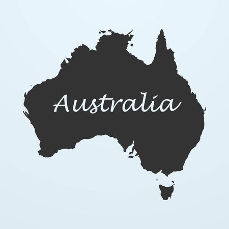 Map of Australia. Vector illustration eps 10 Stock Photo