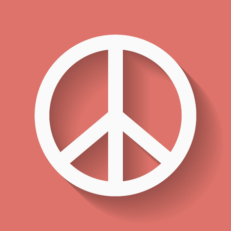 pacificist: Peace sign. Hippie symbol of peace. Vector illustration eps 10