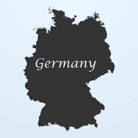frankfurt germany: Map of Germany. Vector illustration eps 10