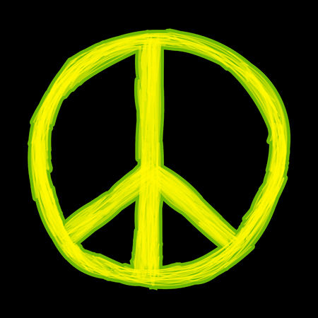 doodled: Peace sign. Hippie symbol of peace. Vector illustration eps 10