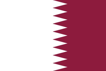 qatar: Flag of Qatar. Vector illustration eps 10 Illustration