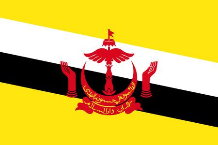 national symbol: Flag of Brunei National symbol. Vector illustration Illustration