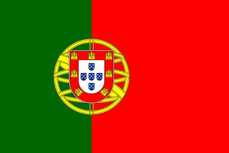 national symbol: Flag of Portugal National symbol. Vector illustration