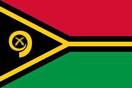 national symbol: Flag of Vanuatu National symbol. Vector illustration