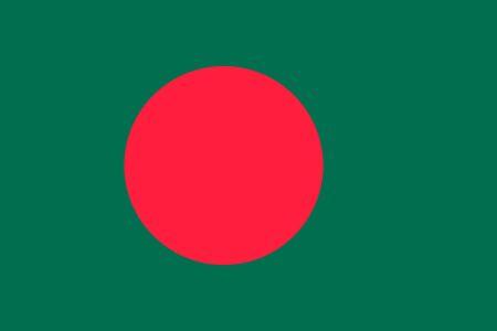 national colors: Flag of Bangladesh National symbol. Vector illustration