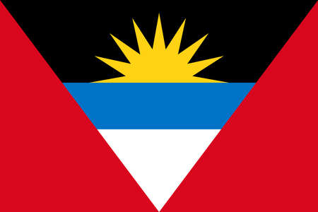 antigua: Flag of Antigua and Barbuda National symbol. Vector illustration